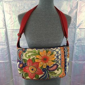 Anthropologie Kate Mcrostie Floral Crossbody Purse